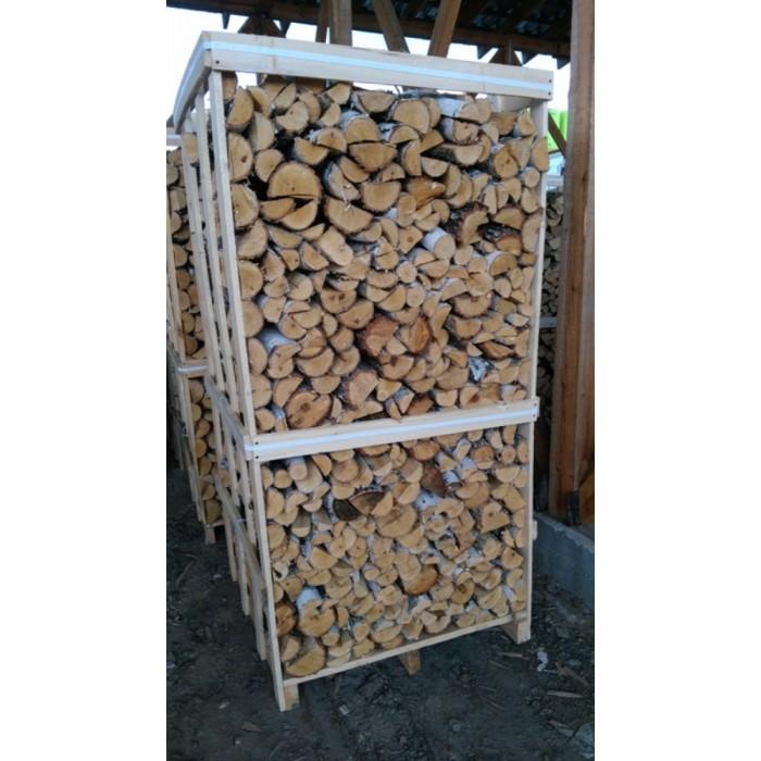 Дрова березовые в ящике колотые ( Размер ящика 1м*1.05м*2м)Объём 2,1 м3, 1 ящик = 3м3 навалом. Длина - 35см, ширина 8-12 см