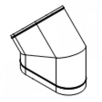 Колено овальное 45° изгиб по короткой стороне