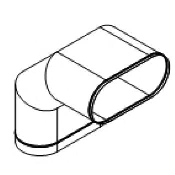 Колено овальное 90° изгиб по длинной стороне