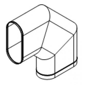 Колено овальное 90° изгиб по короткой стороне