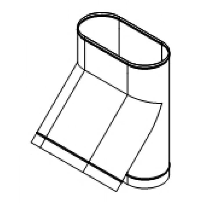 Тройник 45° врезка по длинной стороне