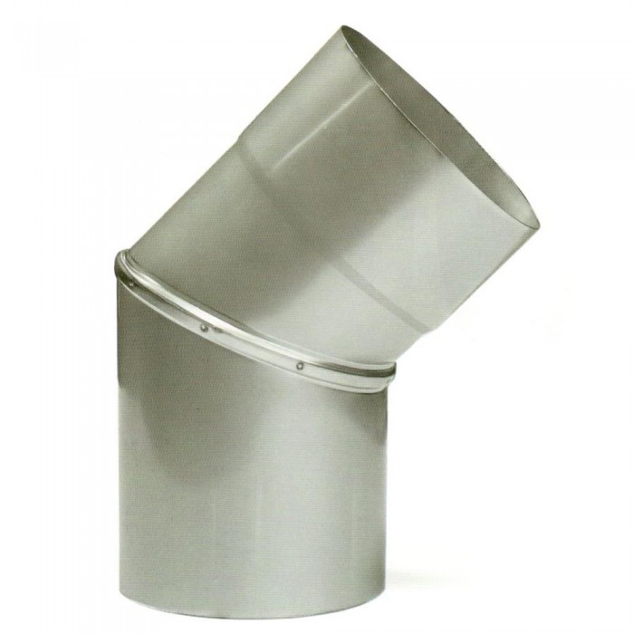 Ø250 Колено 45°, 08 мм нержавеющая AISI 304 сталь