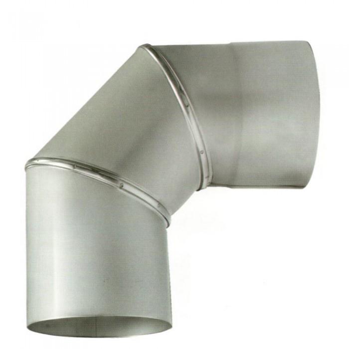 Ø400 Колено 90° нержавеющая AISI 304 сталь