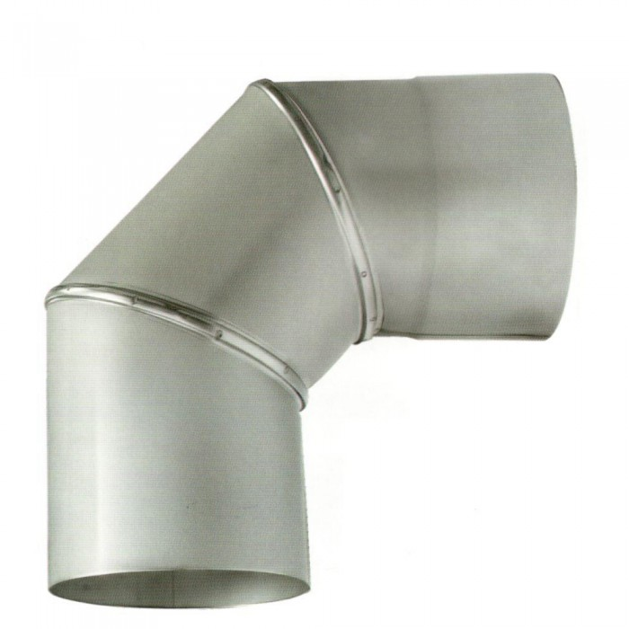 Ø300 Колено 90°, 1мм нержавеющая AISI 304 сталь