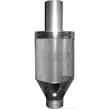 Ø100/200 Сетка для камней + труба нержавеющая сталь