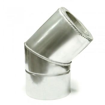 Ø100/200 Колено 45* к/к  нержавеющая AISI 304 сталь