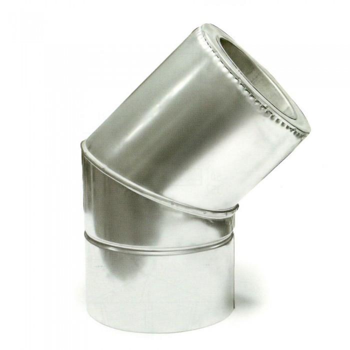 Ø200/260 Колено 45° к/оц 1мм нержавеющая AISI 304 сталь
