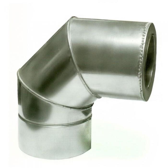 Ø250/320 Колено 90° к/оц 0,8мм нержавеющая AISI 304 сталь