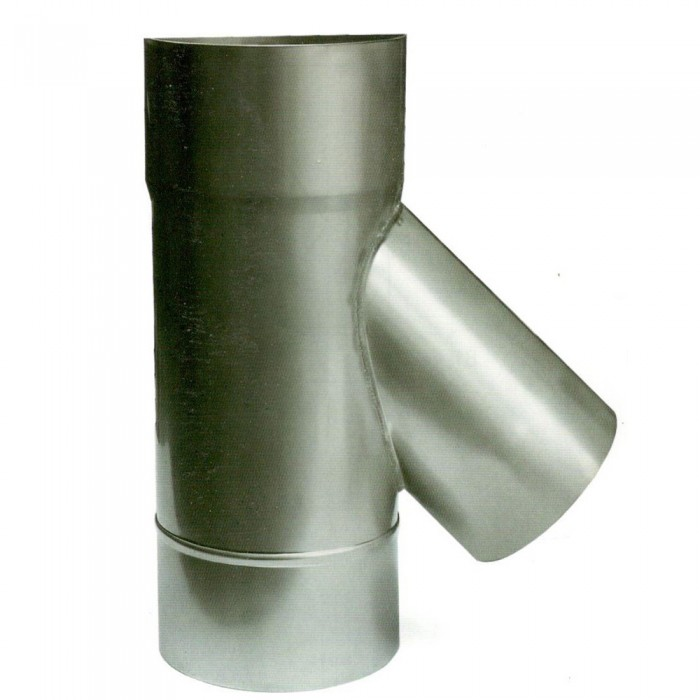 Ø300 Тройник 45* 1мм нержавеющая AISI 304 сталь