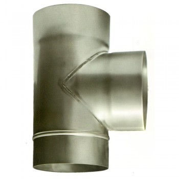 Ø100 Тройник 87*  нержавеющая сталь