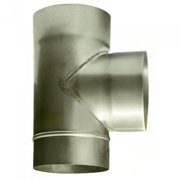 Ø200 Тройник 87* 1мм нержавеющая AISI 321 сталь