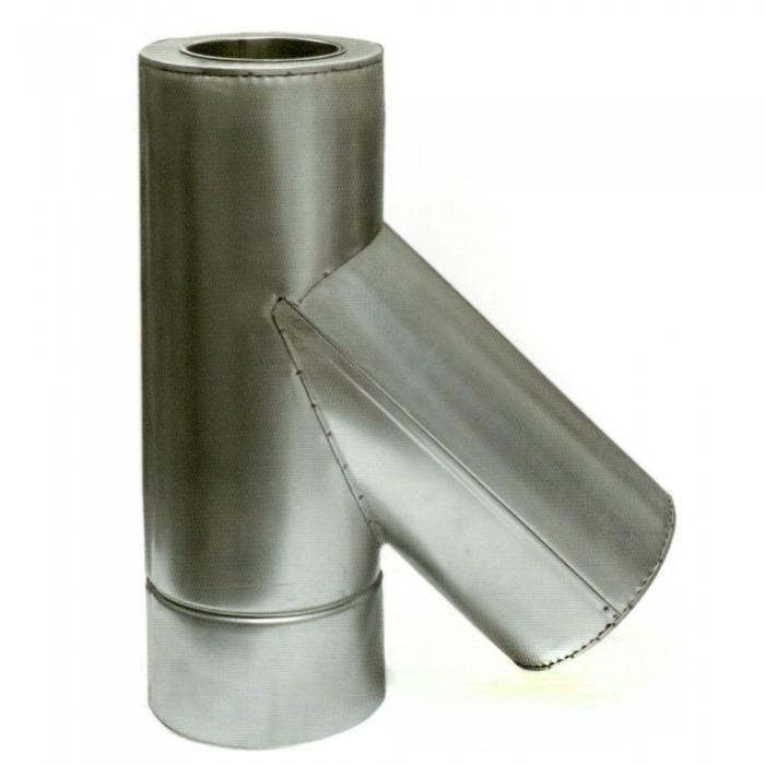 Ø120/220 Тройник 45* к/к нержавеющая AISI 321 сталь